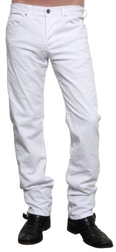 Rockstar Sushi Men's 5 Pocket Straight Leg Jeans White 34