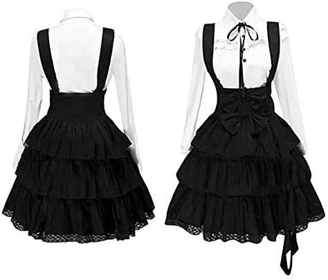 GLOA Women Medieval Dress Lady Retro Court Cake Dress Gothic Lolita Bowknot Long Sleeve Costume product image
