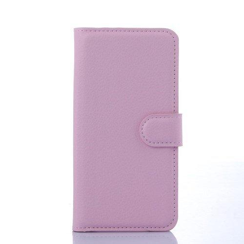 jbTec® Flip Case Handy-Hülle passend für Samsung Galaxy S6 Edge/SM-G925F - Book EINFARBIG - Handy-Tasche Schutz-Hülle Cover Handyhülle Ständer Bookstyle Booklet, Farbe:Rosa (Pink)