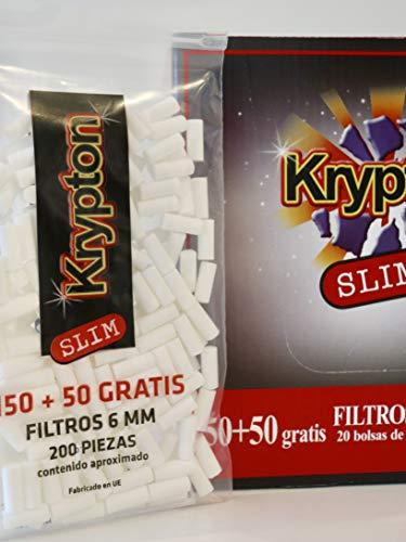 4000 Filtros Krypton 6mm slim para tabaco de liar
