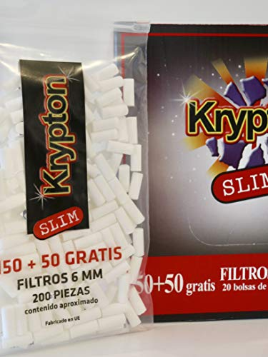 4000 Filtros Krypton 6mm slim tabaco entubar …