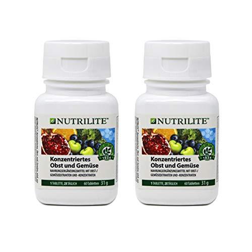 Concentrado de Frutas y Vegetales biológico de NUTRILITE-Pack 2 x 60 comprimidos 1 al dia.
