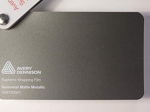 Avery Supreme Wrapping Film Serie Gunmetal Matt Metallic gegossene Autofolie 100 x 152 cm Zuschnitt