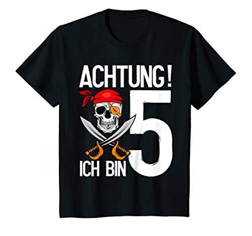 Kinder 5 Jahre alt Geburtstag Junge Totenkopf Pirat Party Geschenk T-Shirt