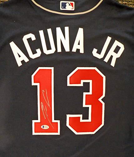 Atlanta Braves Ronald Acuna Jr. Autographed Nike Blue Jersey Beckett BAS