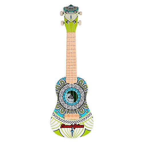 Foxom Gitarre Kinder, 21' Musikinstrument Ukulele Gitarre mit Plektrum für Kinder Pädagogisches Spielzeug Geschenk, Geeignet für Kinder ab 3 Jahre (Typ-3)