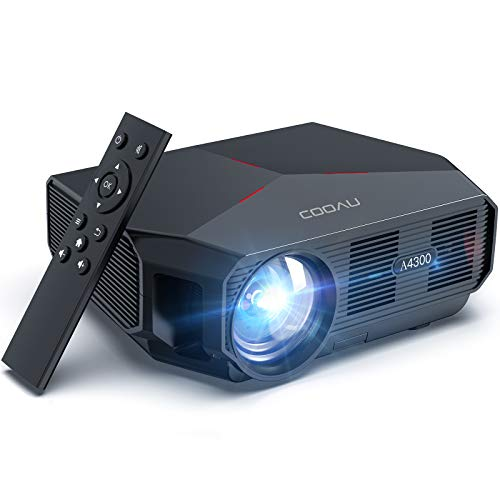 COOAU Portable Outdoor Movie Projectors 5500 Lumens 1080P Supported Home Theater Projector Daytime...