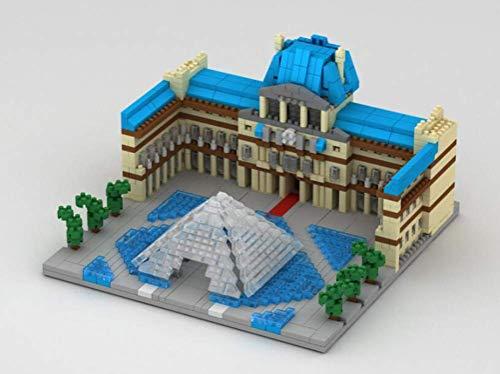 WY Miniatura sistema del bloque de construcción Juguetes Modelo Louvre, Puzzle Nano Micro Bloques 3D para niños