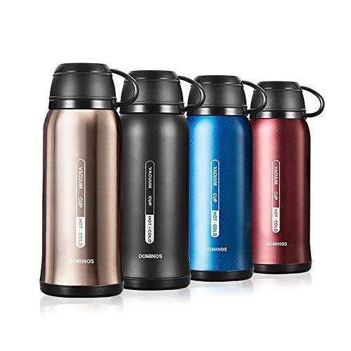 Y·J&H Vakuum Isolierte Edelstahl Trinkflasche, Wasserflasche Doppelwandig BPA Frei, Mit Tasse, Geeignet für heiße Kaffee und Tee, Ideale Thermosflasche für Camping - 650ml Champagner Gold