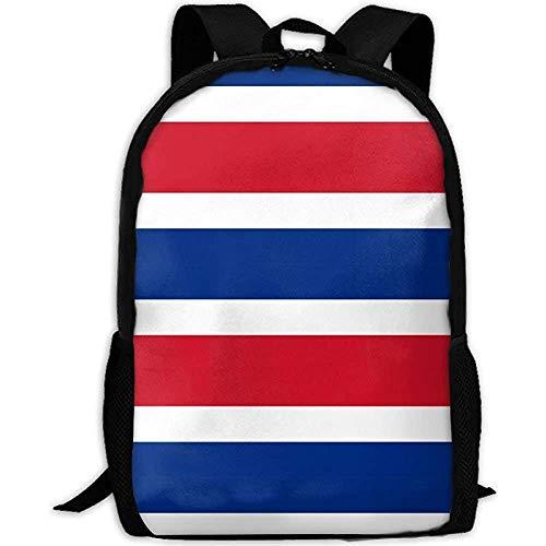 Mochila Bolsa,Bandera De Costa Rica Mochila De Viaje para Adultos Mochila Escolar Informal Oxford Bolsa para Computadora Portátil Al Aire Libre Bolsas De Hombro para Computadora Universitaria