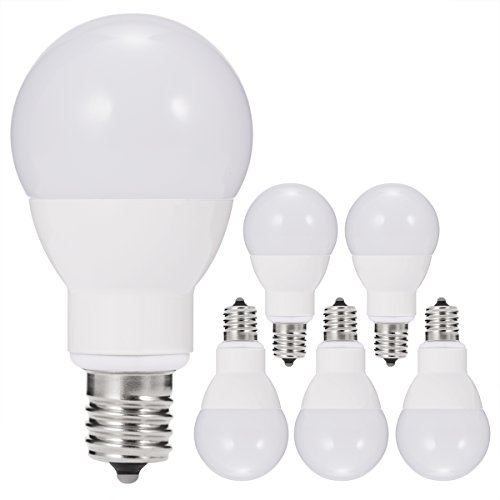 JandCase E17 Globe Light Bulbs, 40W Equivalent, 5W, 450...