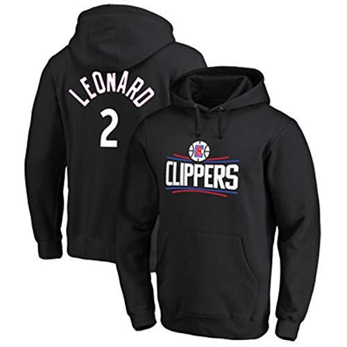 LMSNB Kawhi Leonard #2 para hombres baloncesto Los Ángeles Clippers sudadera con capucha Street Retro Camisa de moda chaqueta casual entrenamiento sudadera con capucha - negro
