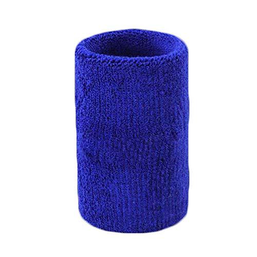 XYBB Muñequera Pulsera Larga Limpiar Suero Toalla Muñeca Pulsera De Algodón Deporte Gimnasio De Tenis 11.5 * 8.5cm Azul Marino