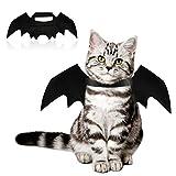 Bestcool Pet Bat Wings, Halloween Cat Bat Costume nero gatto vestito per animali domestici con circonferenza del collo da 24 a 36 cm e petto da 36 a 42 cm per gatti e cuccioli.