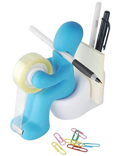 Tech Tools - Soporte para suministros de oficina, incluye clip de papel, dispensador de cinta, bloc de notas y soporte para bolígrafos, gran herramienta de organización