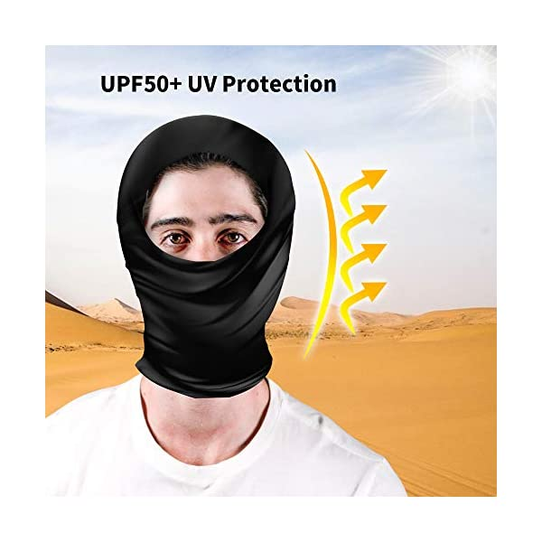 Multi-Purpose UPF50+ UV Protection Seamless Bandanas Neck Gaiter Scarves Headbands Face Mask Cover