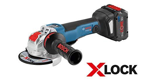 Bosch Professional 18V System X-LOCK Akku Winkelschleifer GWX 18V-10 PSC (X-LOCK, Leerlaufdrehzahl: 4.500 - 9.000 min-1, Scheiben-Ø: 125mm, ohne Akkus und Ladegerät, in L-BOXX)