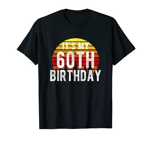 Funny It's My 60th Birthday Camisa retro vintage regalos de puesta de sol Camiseta