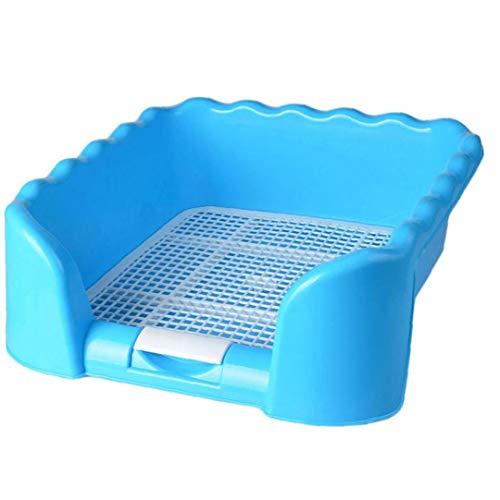 Zonster 1pc Tragbarer Eingezäunt Toilette Tray Grid Litter Box Dog Training Toilette Für Mittel Kleine Sized Pet Supplies Potty