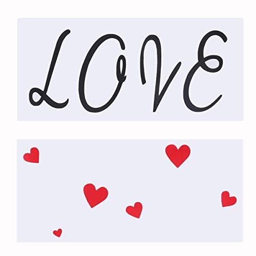 Amosfun Boda Regalos del día de San Valentín Amor Corazón Ventana Se aferra Calcomanía Pegatinas de Pared San Valentín Boda Pegatinas de Vidrio