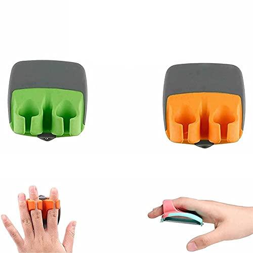 ZDDO Sharp Blade Finger Peeler,Non-Slip Finger Potato Peeler,Hand Vegetable Peeler,Vegetable Peeler-Durable Palm Peeler Finger Grips Comfortable To Peel Potato 2pcs Greenorange