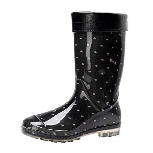 Miss Fortan Stivali da Pioggia Autunno E Inverno Donna Slittata Scarpe Impermeabili Moda Copriscarpe Cucina Scarpe di Gomma Giardinaggio Scarpe Snow Boots Autolavaggio Calzature 36-41
