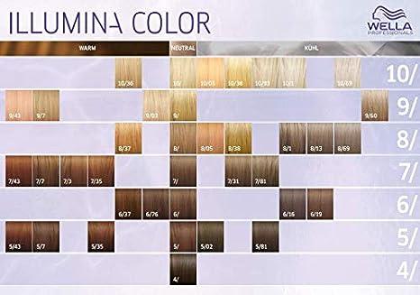 El color del pelo de Wella Illumina 5 / marrón claro, 60 ml ...