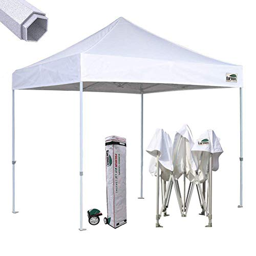 Eurmax Premium 10'x10'Pergolas with Canopy Outdoor Gazebo for Backyard.Instant Canopies Shelter with Heavy Duty Wheeled Carry Bag (White)