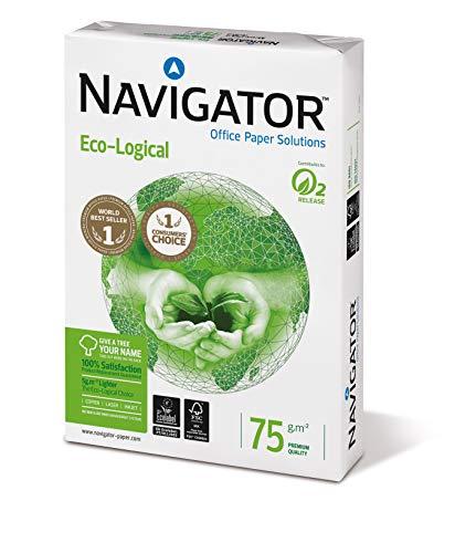 Navigator Eco-Logical – Papel de impresión 2500 hojas (A4, 5 x 500 hojas, 75 g/m2)