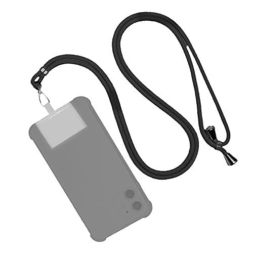EUROXANTY Cordón para Móvil Universal   Colgante para móvil   Cuerda ajustable para colgar el móvil   Correa de Fácil instalación   Con TPU invisible   (Negro)
