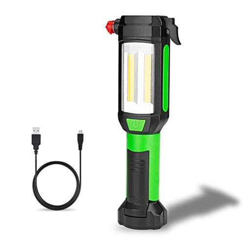 DYCDQMJC Camping Lantern Magnetic Car Repair Work Light LED Flashlight USB Rechargeable Camping Emergency Light