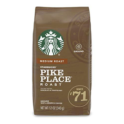 STARBUCKS Medium Pike Place Roast Coffee, Ground, 12 oz