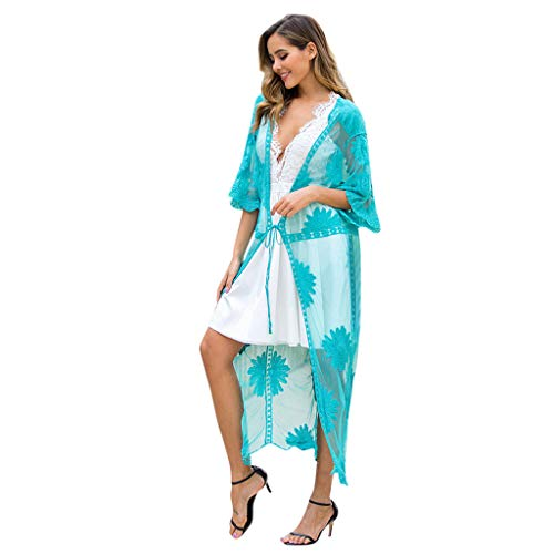 Beach Cover Up Vrouwen Kant Lange Cover Up Bikini Cover Up Meisje Badpak Tuniek Zomer Vest Zomer Strand Kaftan Parei Badmode Lange Blouse