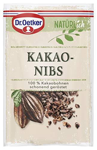 Dr. Oetker Natürlich Kakaonibs 50 g – die aus 100% Kakaobohnen bestehenden Stückchen begeistern mit natürlich puren Geschmack alle, die beim Backen auf einen bewussten Ernährungsstil setzen, 1er Pack (Lebensmittel & Getränke)