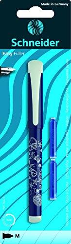 Schneider–Penna stilografica Easy, M, 1er scheda di blister con 2TP (Assorti)