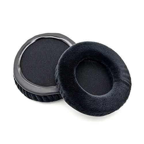 Almohadillas de Repuesto de Terciopelo Negro para Auriculares Pioneer HDJ500 HDJ 500 HDJ-500