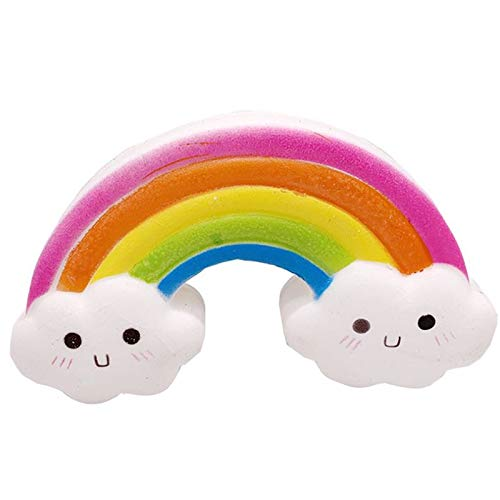 ZALE Soft-Simulation Squishies, Kawaii Smiley-Regenbogen Squishy, cremige Aroma Langsam Rising Squeeze Spielzeug for Jungen und Mädchen Geschenke Magie Artifact