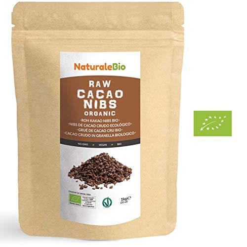 Grué de Cacao Cru Bio 1Kg | Organic Raw Cacao Nibs | 100% Naturel et Pur | Produit au Pérou par la Plante Theobroma Cacao | Superfood riche en antioxydants, minéraux et vitamines | NATURALEBIO