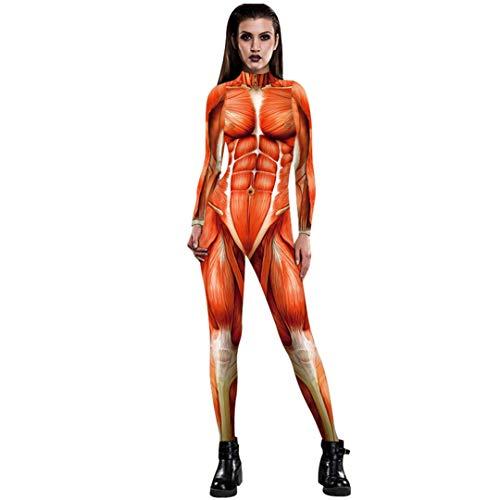Pandodut 2020 Halloween Cosplay Kostüme für Männer Frauen 3D-Angriff auf Titan Anime Printed Bodysuit Jumpsuits Women L