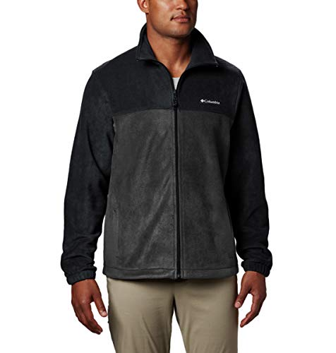 Columbia Apparel Steens Mountain Full Zip 2.0 Soft Fleece Jacket, Black/Grill, Medium