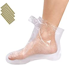Noverlife 200PCS Clear Plastic Disposable Booties, Paraffin Bath Liners for Pedicure Hot Spa Wax Treatment, Thermal Paraffin Wax Therapy Foot Covers Protector Liners