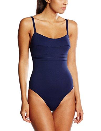 Haute pression A1001 - Maillot de bain une pièce - Uni - Femme - Bleu,FR: 40 (Taille faricant: 40)