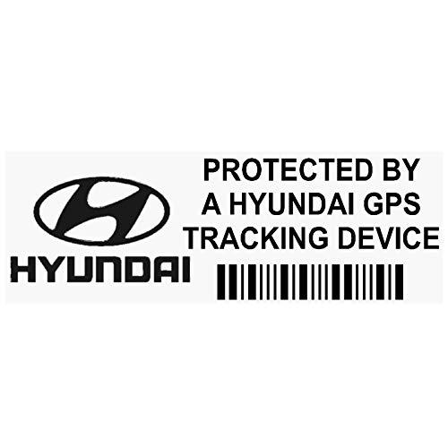 5x pphyundaigpsblk GPS Schwarz Tracking Gerät Sicherheit Fenster Aufkleber 87x 30mm-car, Van Alarm Tracker