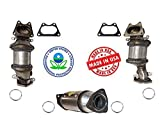 New Front Lower Rear Catalytic Converters for Honda Accord 03-07 Pilot 05-08 V6