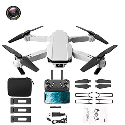 GZTYLQQ Dron para niños con cámara de Alta definición 4K, Mini cuadricóptero para Principiantes con función de retención de altitud, Inicio/Aterrizaje con un botón, duración de la batería de 60 mi