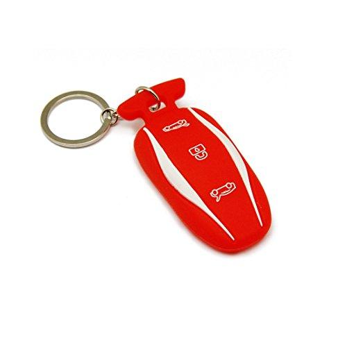 Topfit Model 3 Model S Silikon Schlüssel Abdeckung Schlüsselring Schlüsselanhänger Schlüsselanhänger Halter für Model 3 Model S