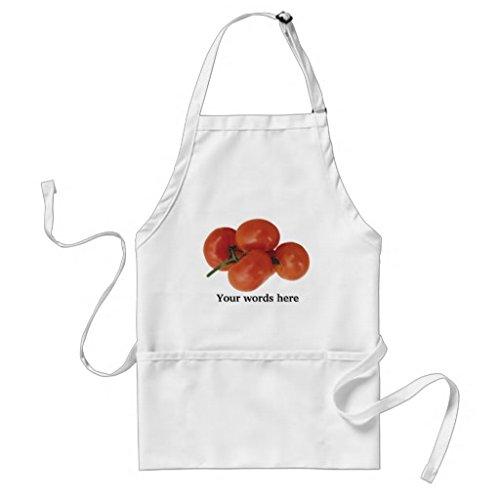 Tablier de cuisine pour femme, motif tomates fraîches, festival, marché foire, tablier pour filles, col réglable à la taille, tablier de cuisine pour homme