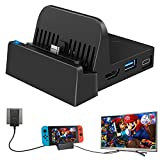 TV Docking Station for Nintendo Switch OLED Model, WEGWANG Portable Mini TV Dock Station Replacement for Official Nintendo Switch and Newest Version OLED Model 7-inch[2021 Upgraded Version]