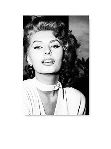 Funny Ugly Christmas Sweater Sofia Loren Movie Poster Monochrome Poster Gifts from Italy Loren Wall Art Unframed Poster Sophia Loren Printed Art Iconic Italian Star 8' x 12'