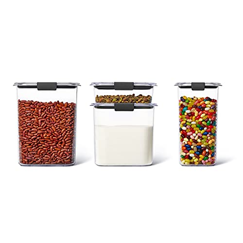 Rubbermaid Brilliance Pantry Airtight Food Storage Container, Set of 4 (16, 12, 6.6 & 3.2 Cup